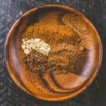 Pumpkin Pie Spice in a wooden bowl