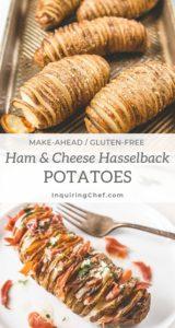 Ham and Cheese Hasselback Potatoes