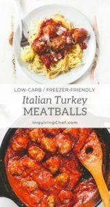 One Pan Italian Turkey Meatballs
