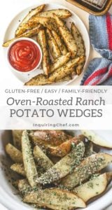 Oven Roasted Ranch Potato Wedges