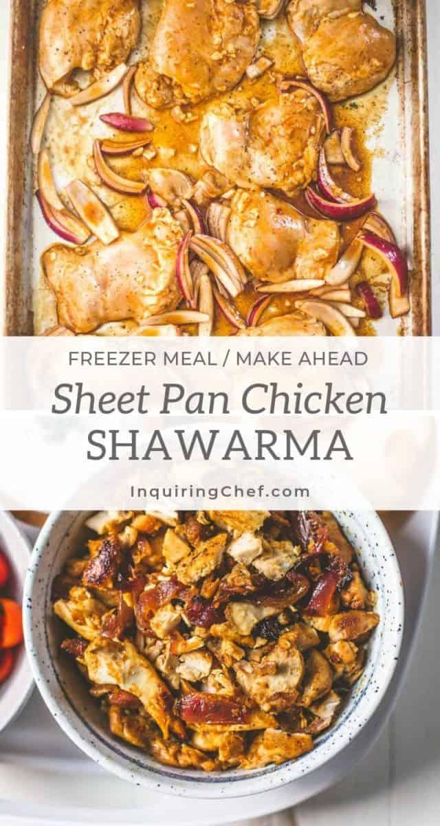 Sheet Pan Chicken Shawarma