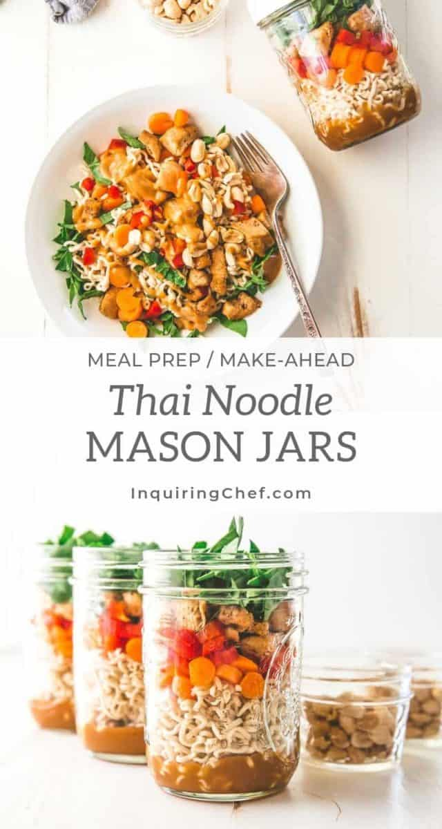 Thai Noodle Mason jars
