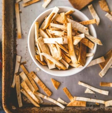 How to Make Crispy Tortilla Strips