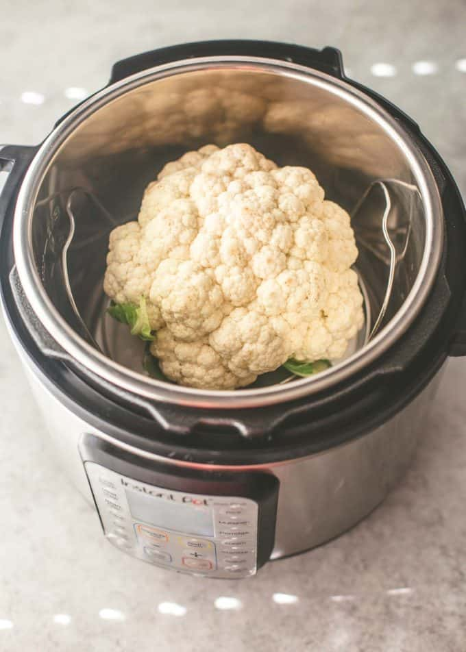 a head of cauliflower in the instant pot