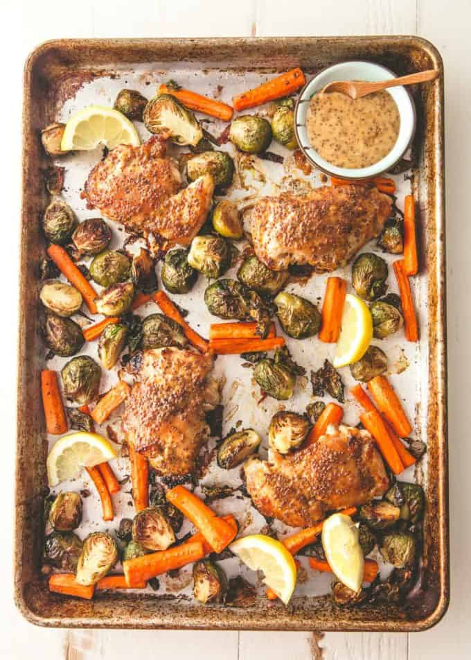 sheet pan honey dijon chicken
