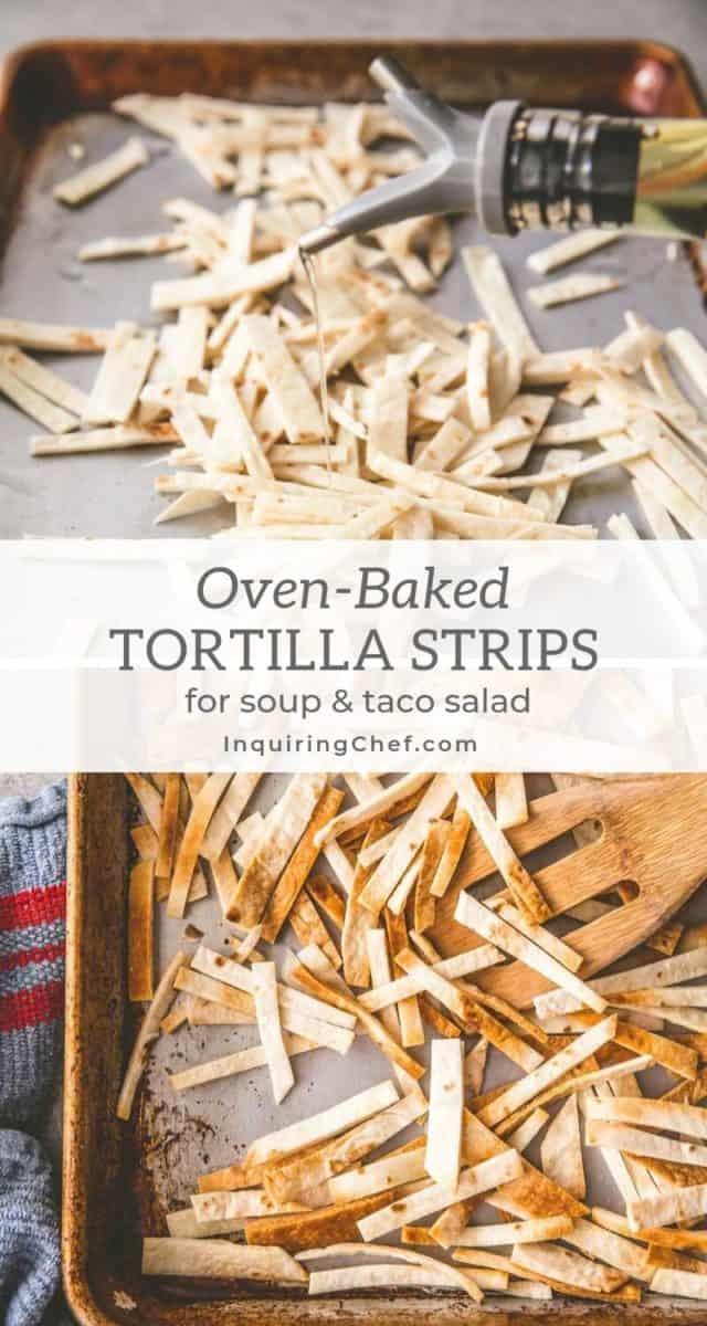 How to Make Crispy Tortilla Strips