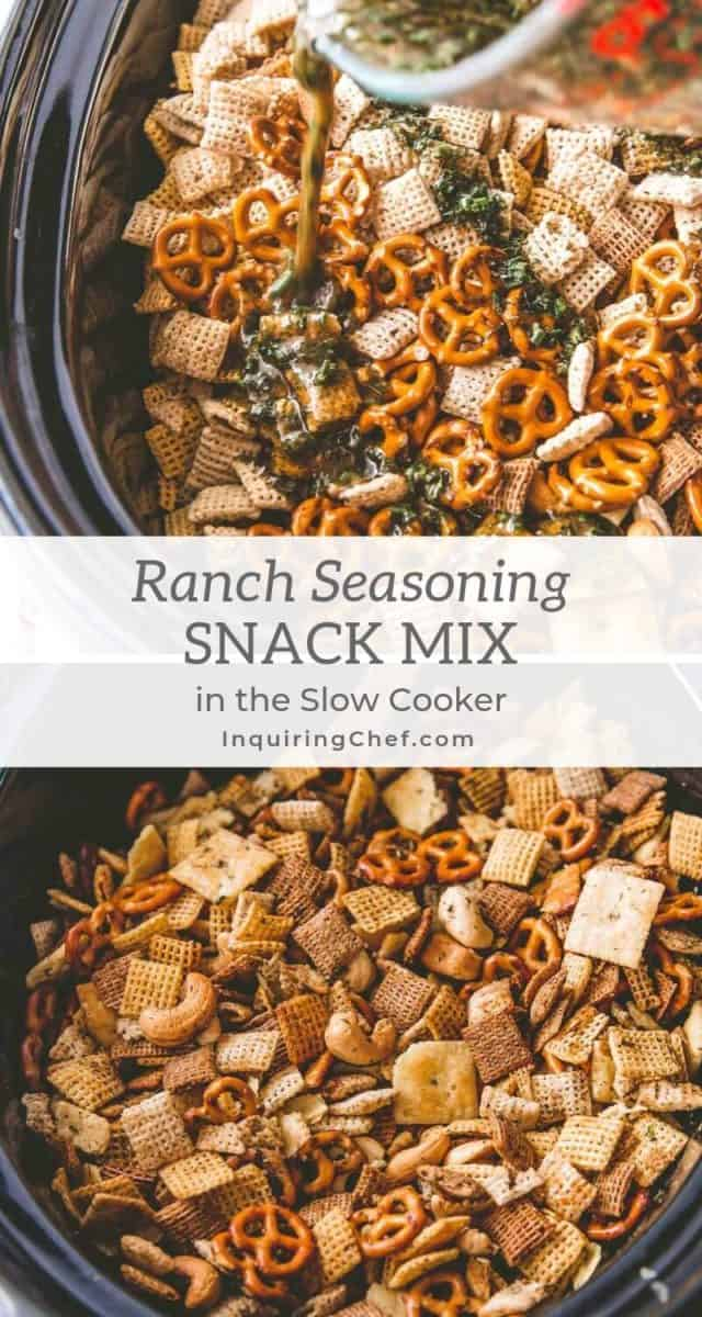 Slow Cooker Ranch Snack Mix