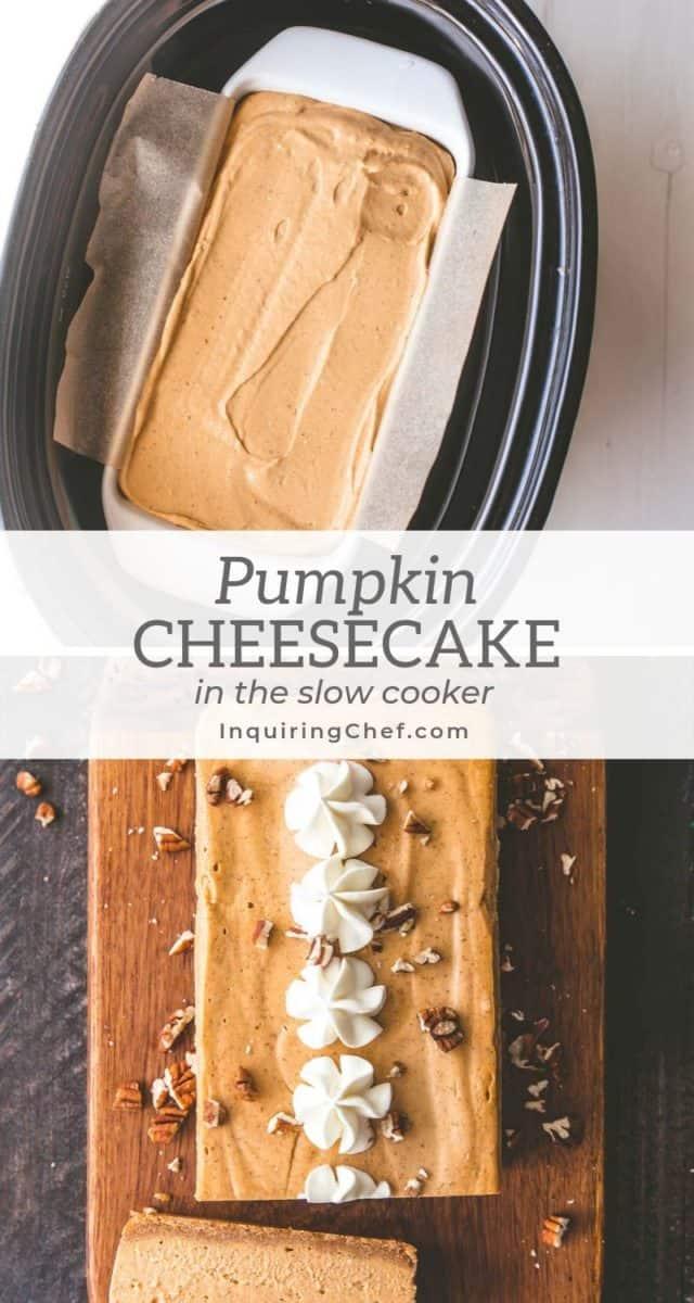 Slow Cooker Pumpkin Cheesecake