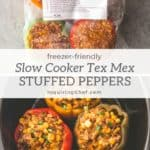 slow cooker tex mex stuffed peppers