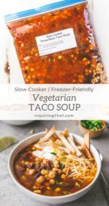 Slow Cooker Three Bean Taco Soup