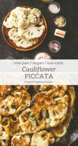 Cauliflower Piccata with lemon caper sauce
