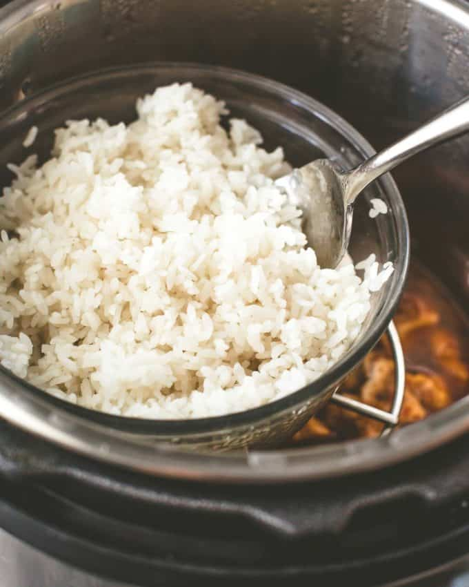 fluffing rice in an instant pot