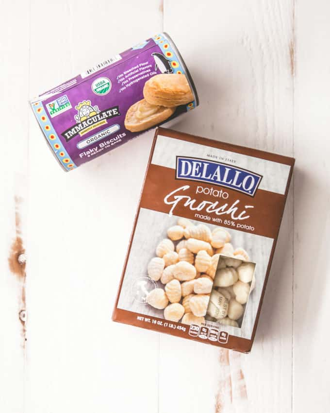canned biscuits and gnocchi