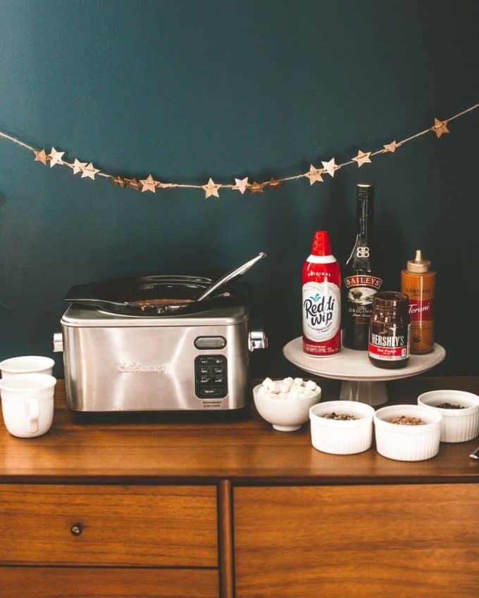 hot chocolate bar