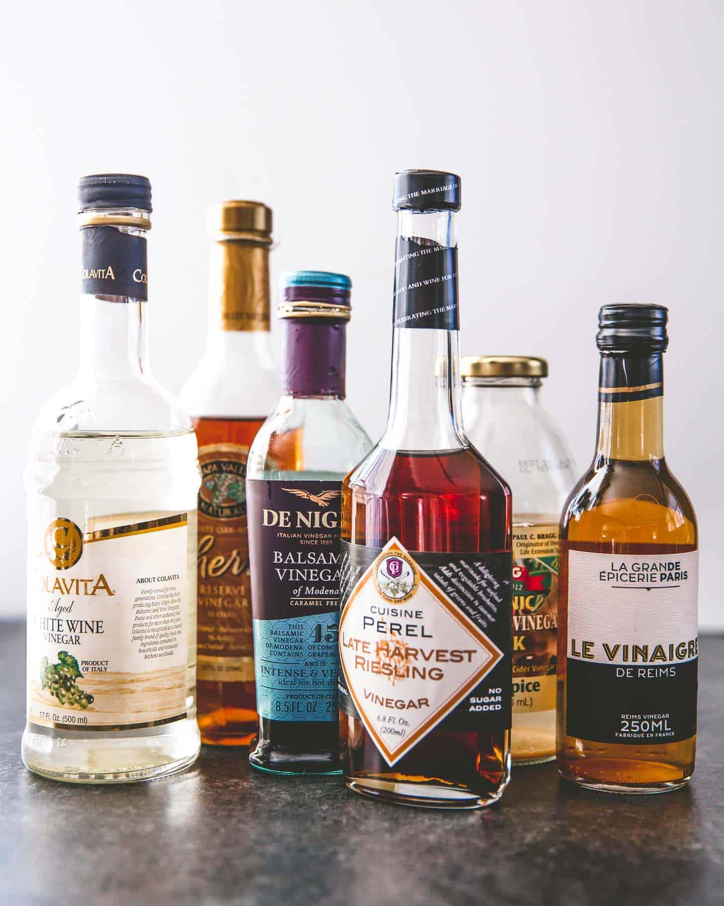 bottles of vinegar