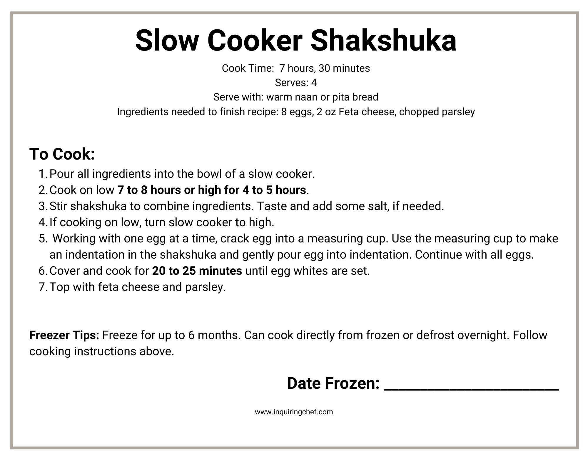 Slow Cooker Shakshuka_printable freezer label