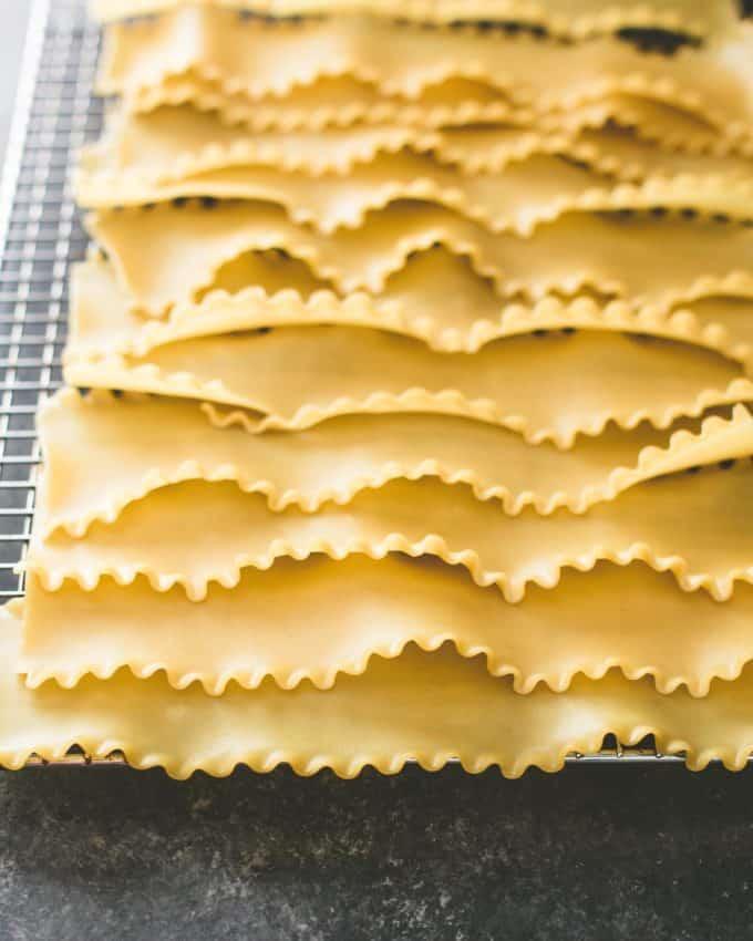uncooked lasagna noodles