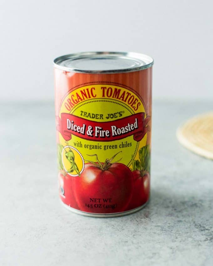 a can of roasted organic tomatoes
