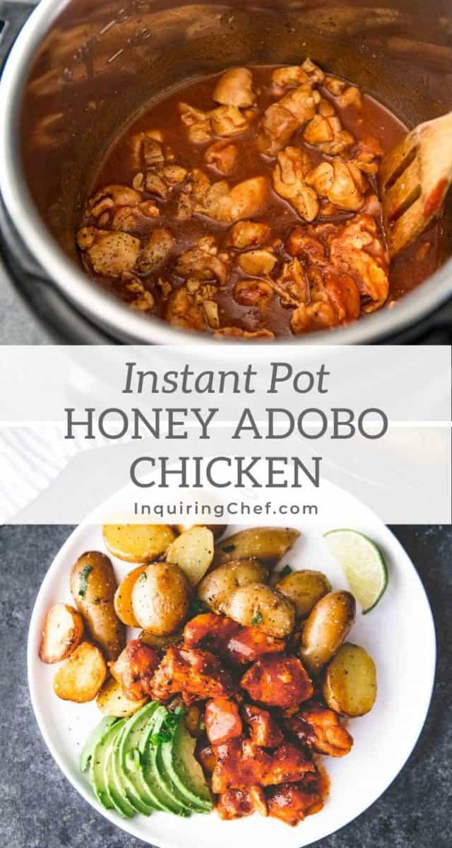 Instant Pot Honey Adobo Chicken