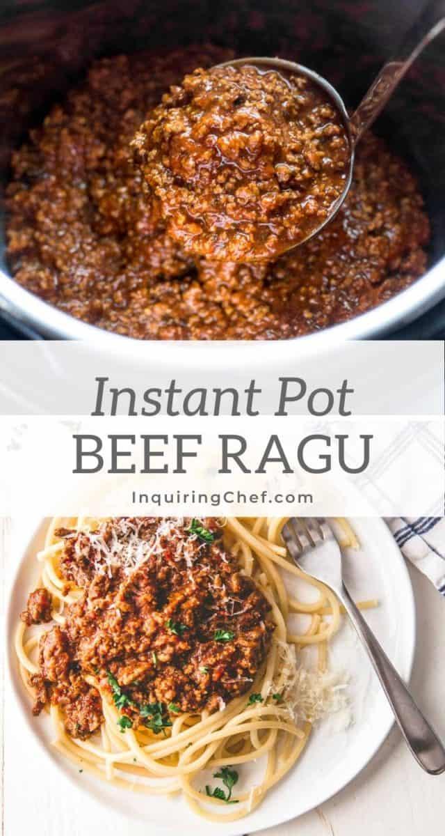 Instant Pot Beef Ragu