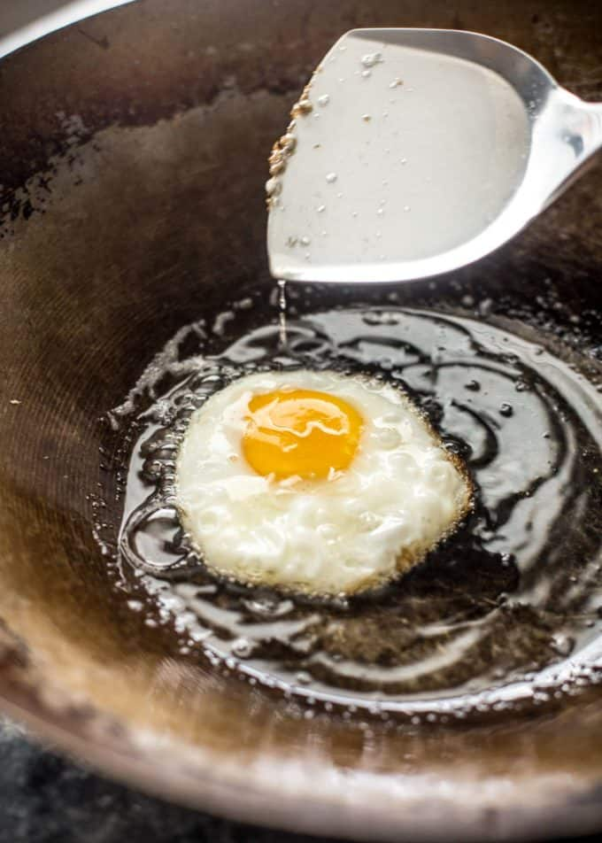 wok fried egg