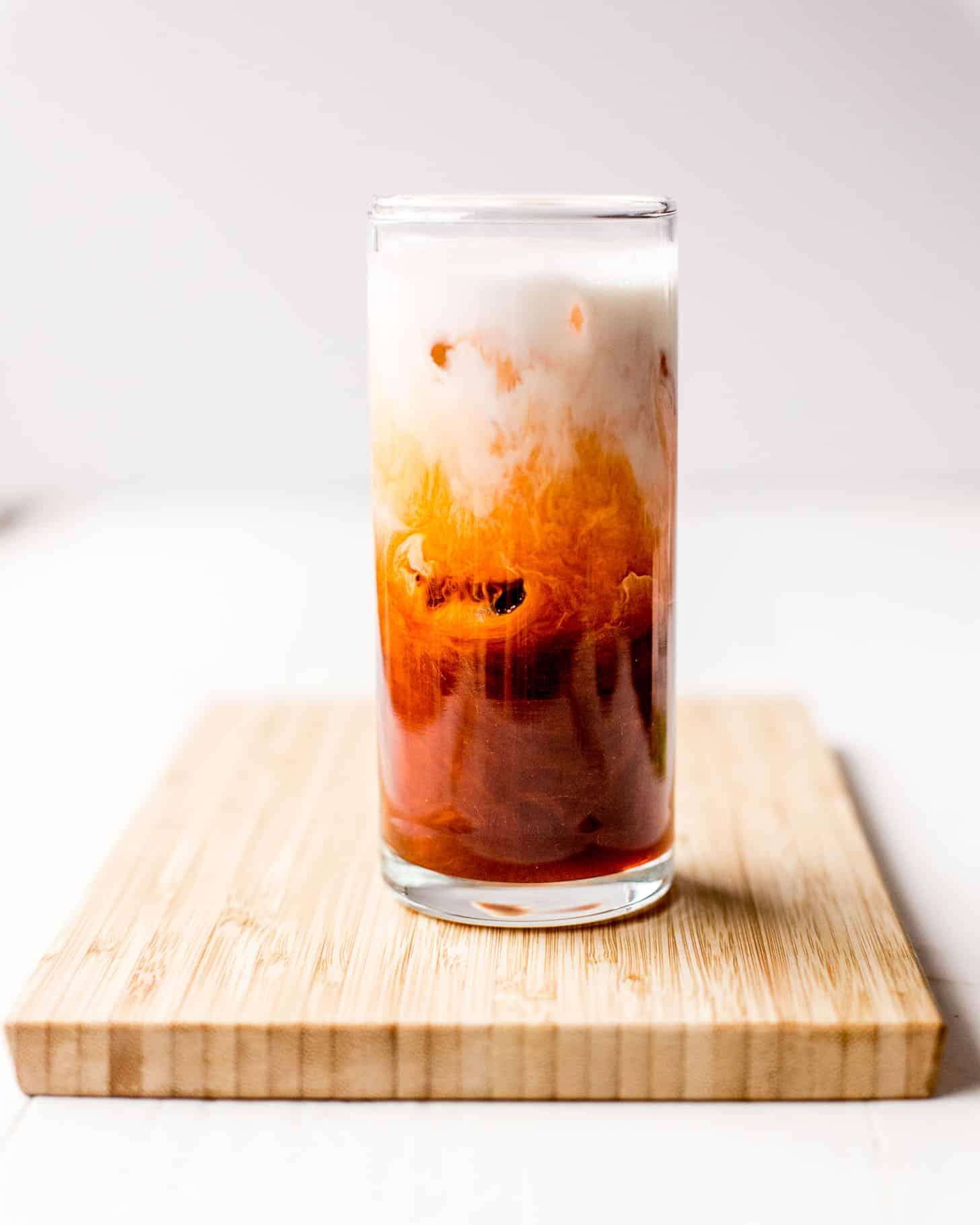 thai iced tea in a glass