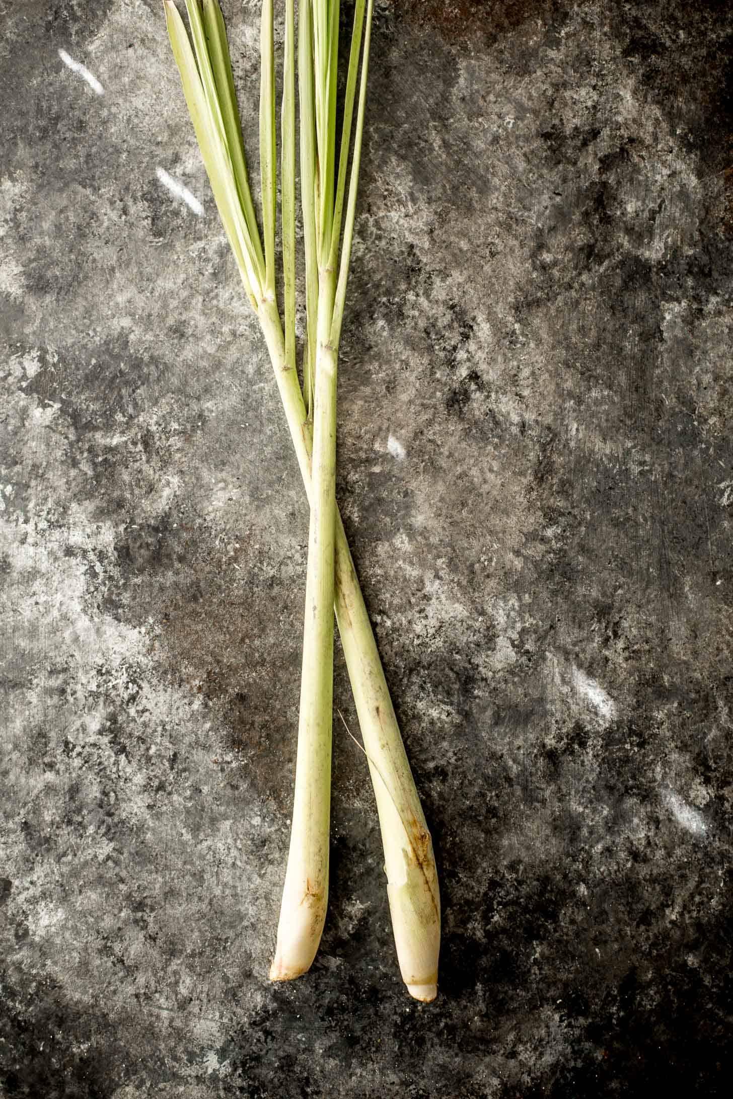 lemongrass on a grey tabletop