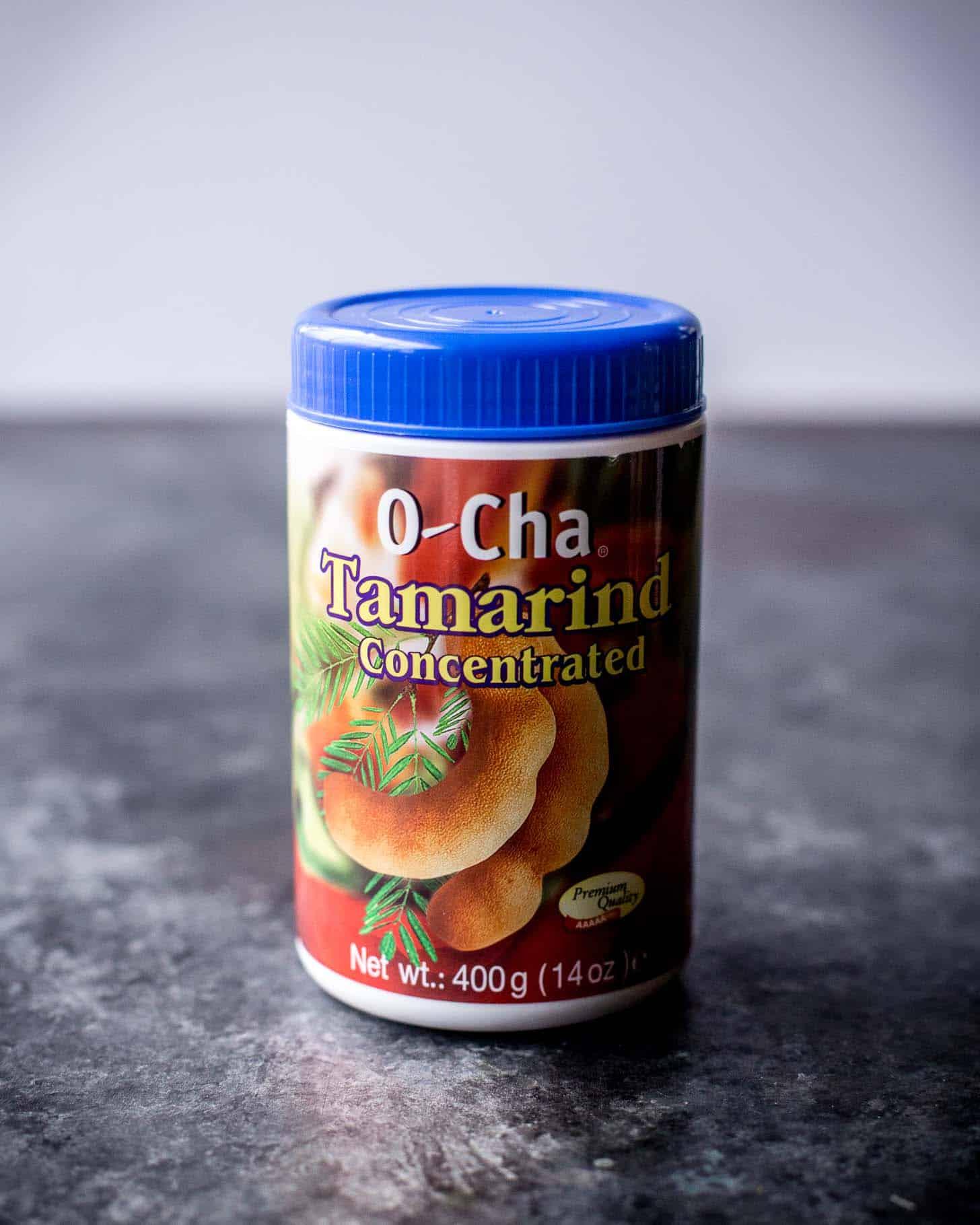 tamarind paste on a grey countertop
