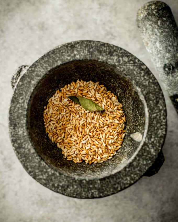 grind rice