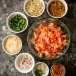 ingredients for pomelo salad