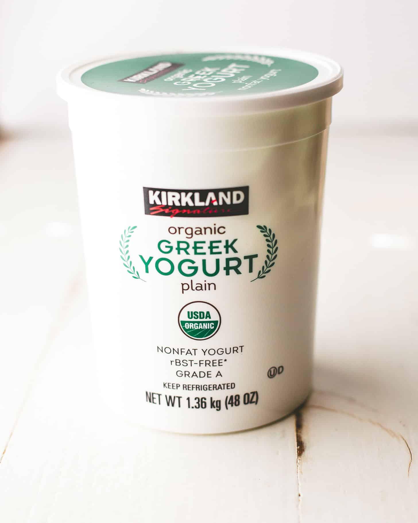 greek yogurt on a white table