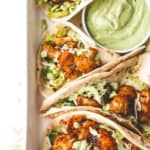 tacos with avocado crema