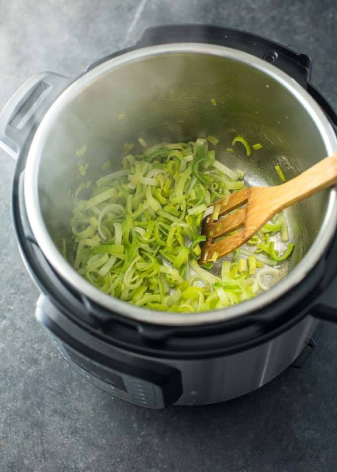sautéing leeks in instant pot