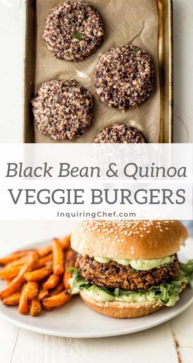 black bean and quinoa veggie burgers