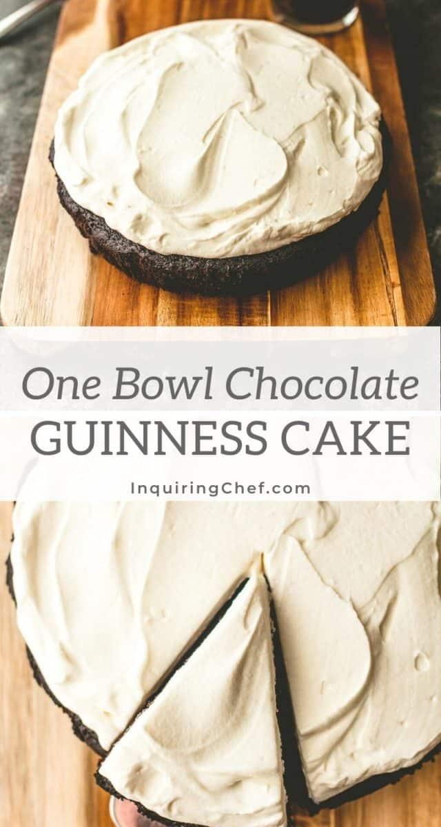 one bowl chocolate guinness cake