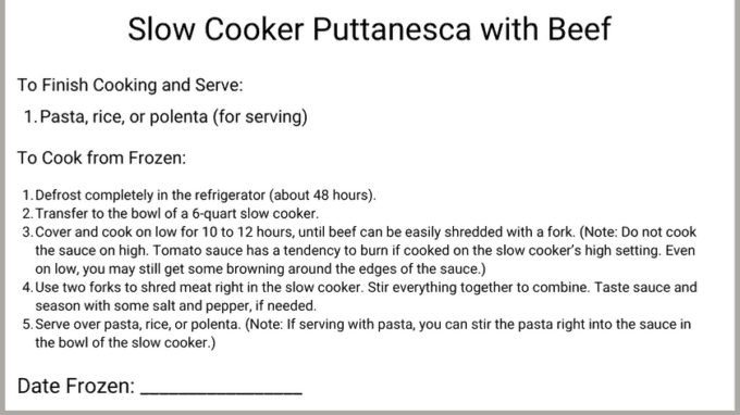 slow cooker puttanesca with beef