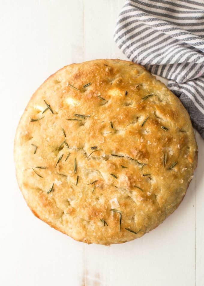No knead focaccia