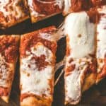 sliced No-Knead Sheet Pan Pizza