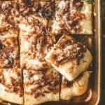 Pizza Bianca on a sheet pan