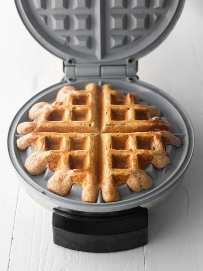 waffle in a waffle maker