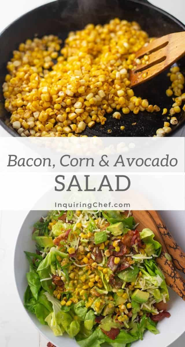 bacon, corn and avocado salad