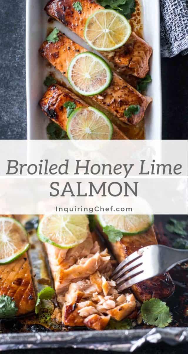 broiled honey lime salmon
