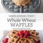 overnight whole wheat waffles