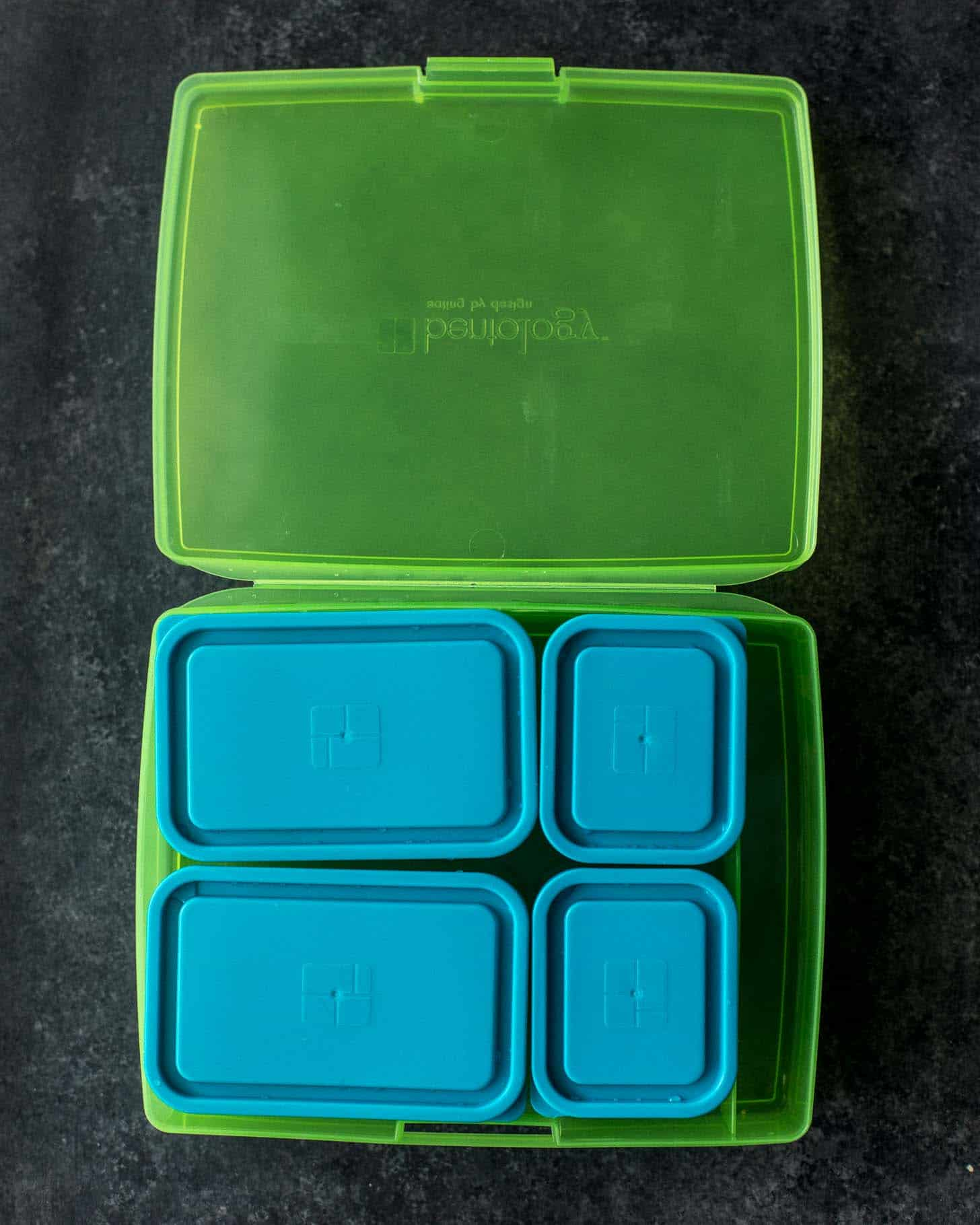 Bentology Bento Lunch Box - Green and Blue