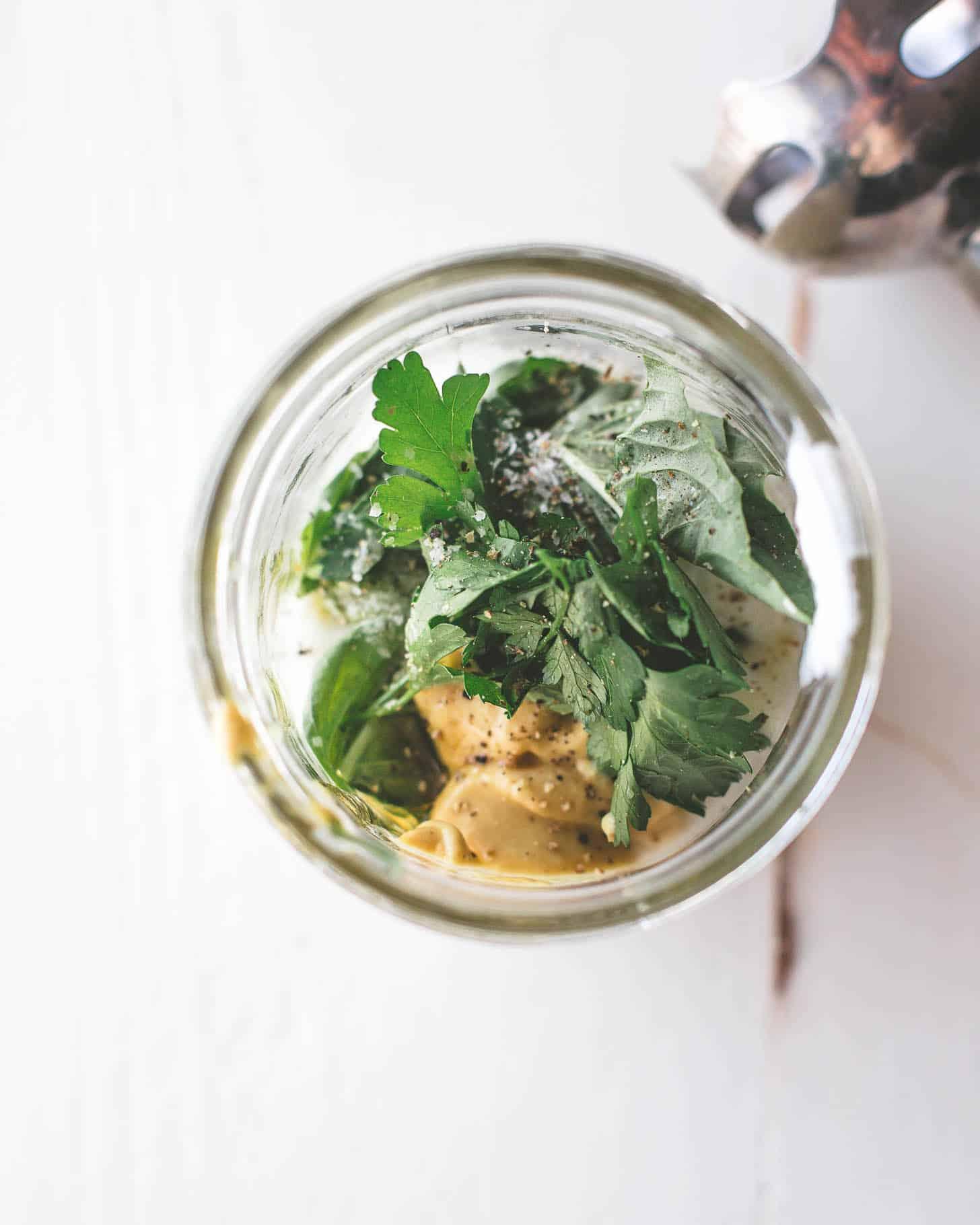 immersion blender for herb salad dressing