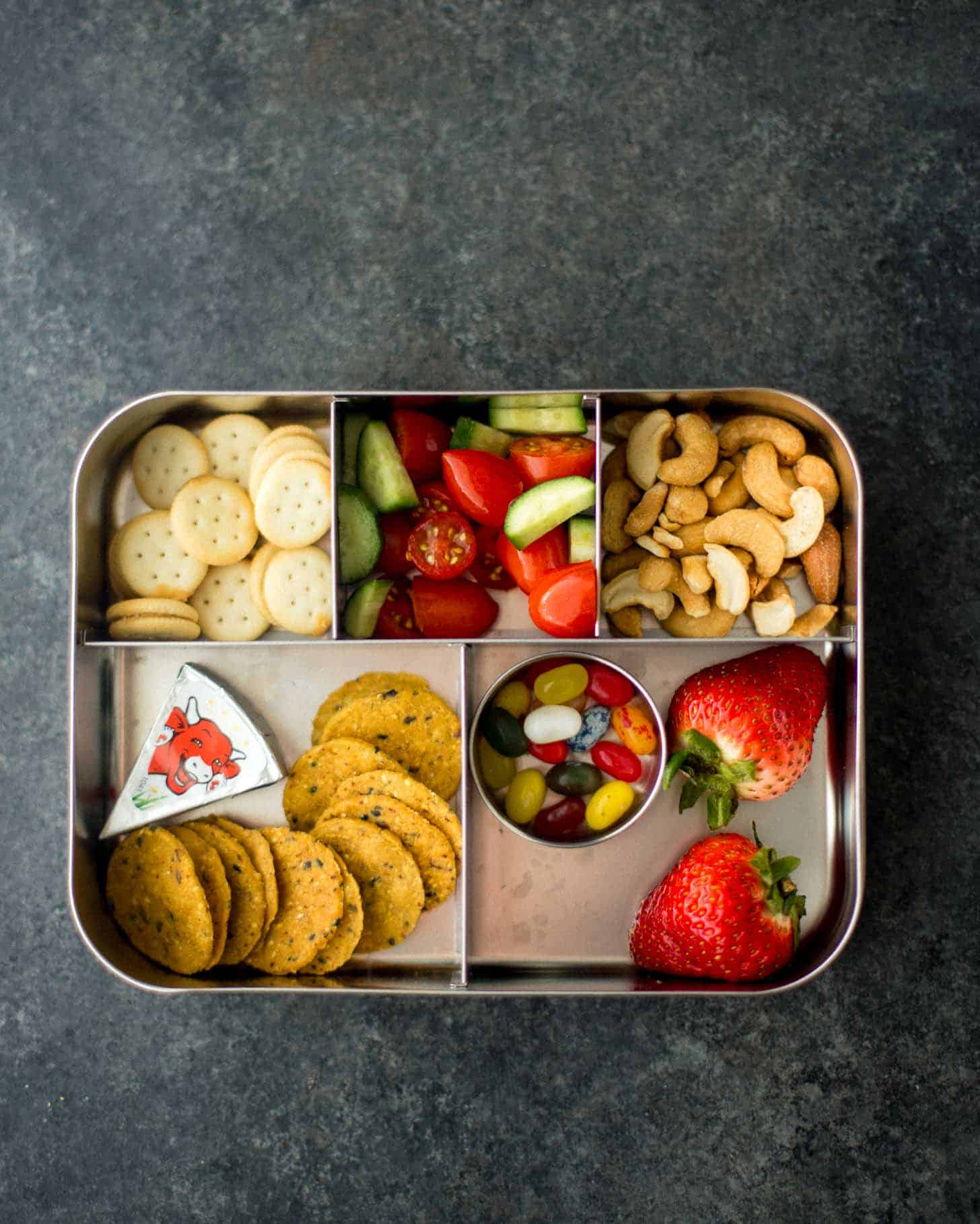 LunchBots Cinco packed with Bento lunch