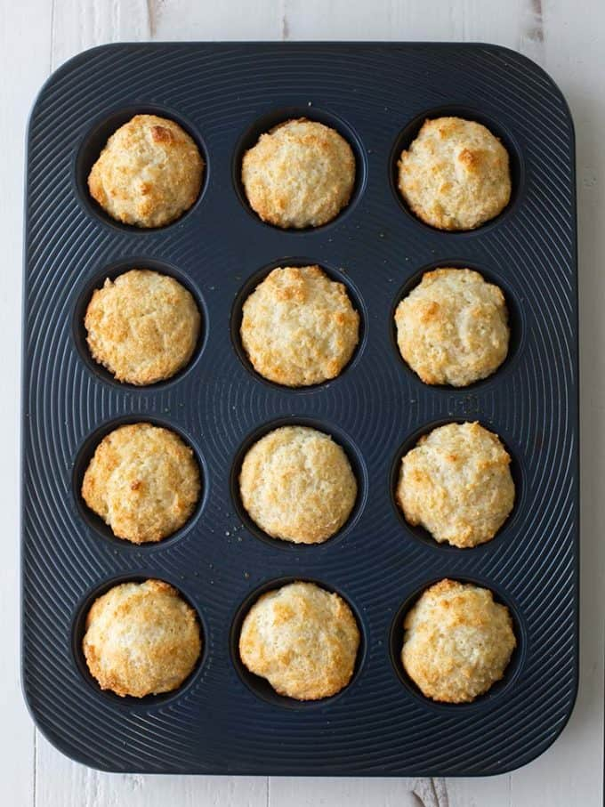 shortcakes in a muffin pan