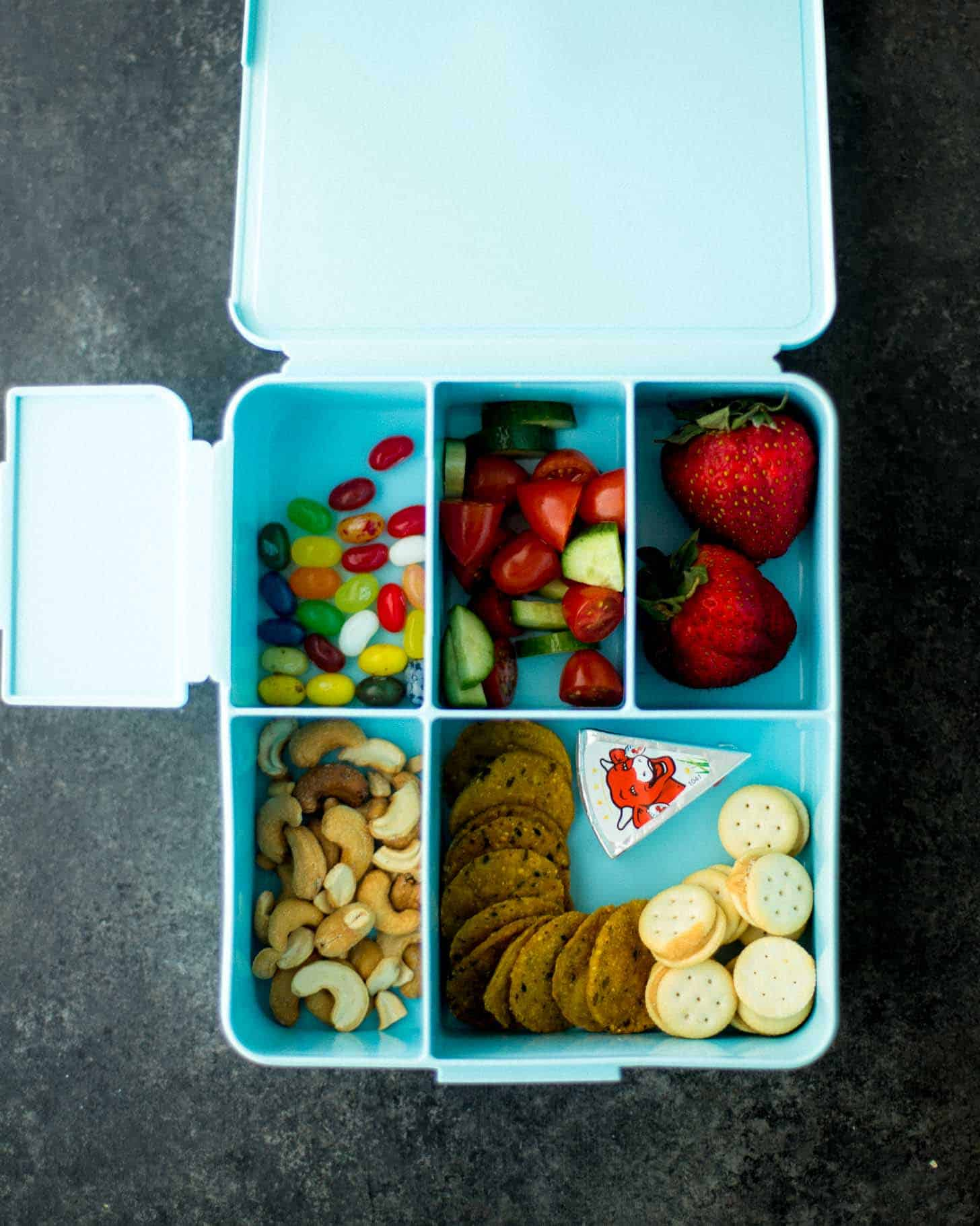 Pottery Barn Spencer Lunch Box packed with Bento lunch