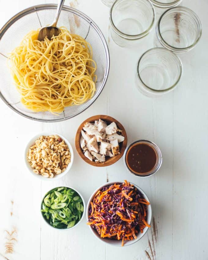 Ingredients for Sesame Noodle Salad