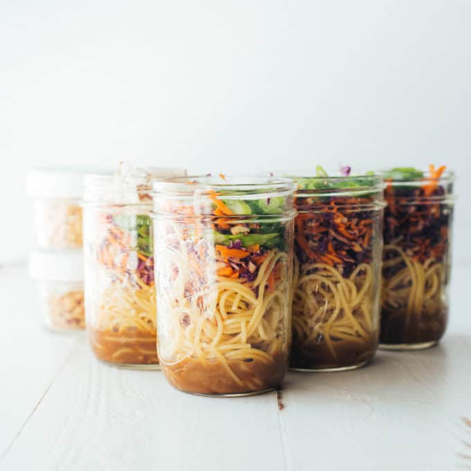 6 jars of sesame noodle salad